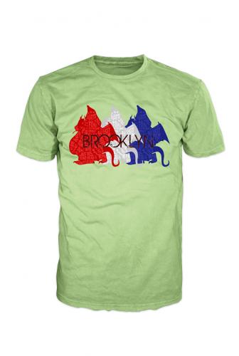 Brooklyn Dragon 3 American Colors on White BROOKLYN BD000004