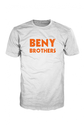 BENY Brothers Original Logo T-Shirt Orange on White BB000004