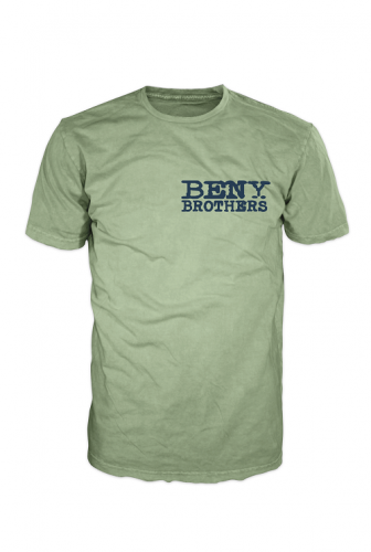 BENY Brothers Original Logo T-Shirt Blue on Green BB000002