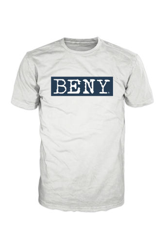 BENY Original Logo T-Shirt Blue on White BBORIGINAL