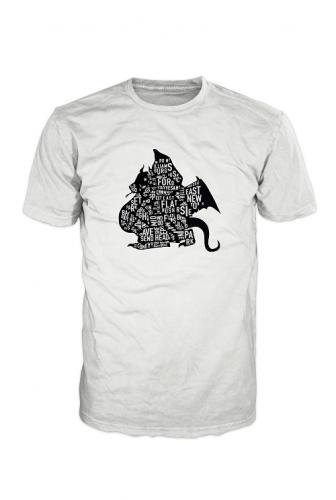 Brooklyn Dragon Logo T-Shirt Black On White Unlimited Edition BD000001
