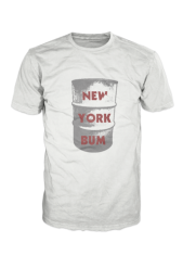New York Bum Garbage Can Limited Edition Shirt Grey on Black BM000004