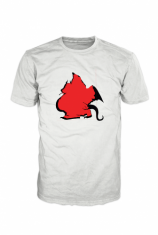 Brooklyn Dragon Red and Black on White BD000003