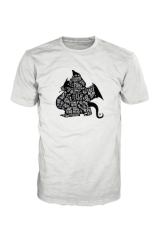 Brooklyn Dragon Logo T-Shirt Black On White Unlimited Edition BDORIGINAL