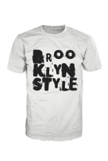 Brooklyn Style Unlimited Logo Black on White Tshirt BB000001