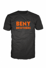 BENY Brothers Original Logo T-Shirt Orange on Black BB000003