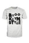 Brooklyn Style Unlimited Logo Black on White Tshirt BSORIGINAL