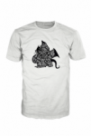 Brooklyn Dragon Logo T-Shirt Black On White Unlimited Edition BD000001